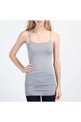 Women Tops Long Camisole Light Grey - intl