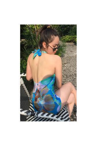 Áo bơi liền thân cao cấp ly xanh Shakano
