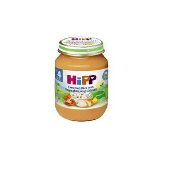 Dinh dưỡng đóng lọ thịt gà, cơm nhuyễn, rau tổng hợp HiPP 125g