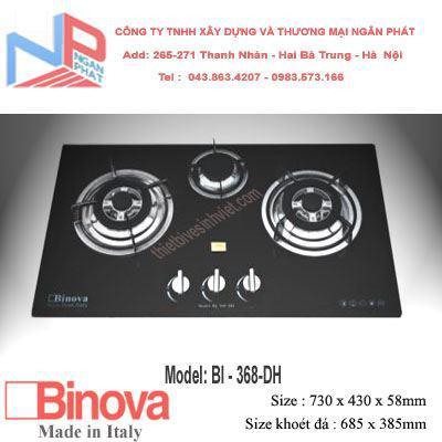 Bếp gas âm 3 lò Binova BI-348-DH