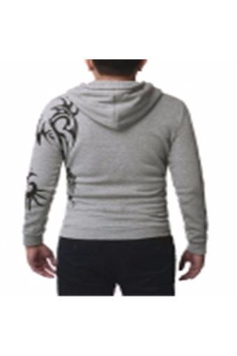 Mens Slim Fit Top Designed Hooded Jacket Coat Casual Sweatshirt Hoodies Outwear - intl