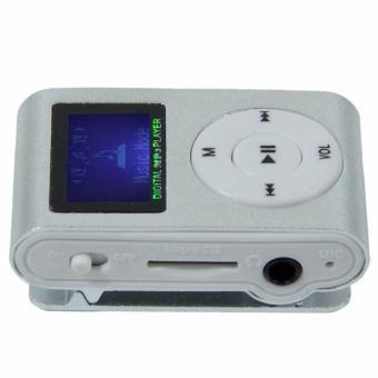 Máy nghe nhạc MP3 có màn hình LCD kiểu kẹp + cáp sạc + tai nghe