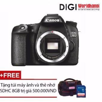 Canon EOS 70D 20.2MP Body WiFi (hãng phân phối chính thức) + Tặng 1 túi đựng máy ảnh và 1 thẻ nhớ 8G...