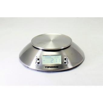 Cân nhà bếp điện tử 5kg (+/-2g) Tiross TS817 (inox)