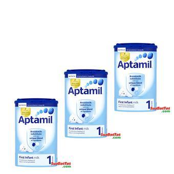 Bộ 3 hộp Sữa Aptamil số 1 900g