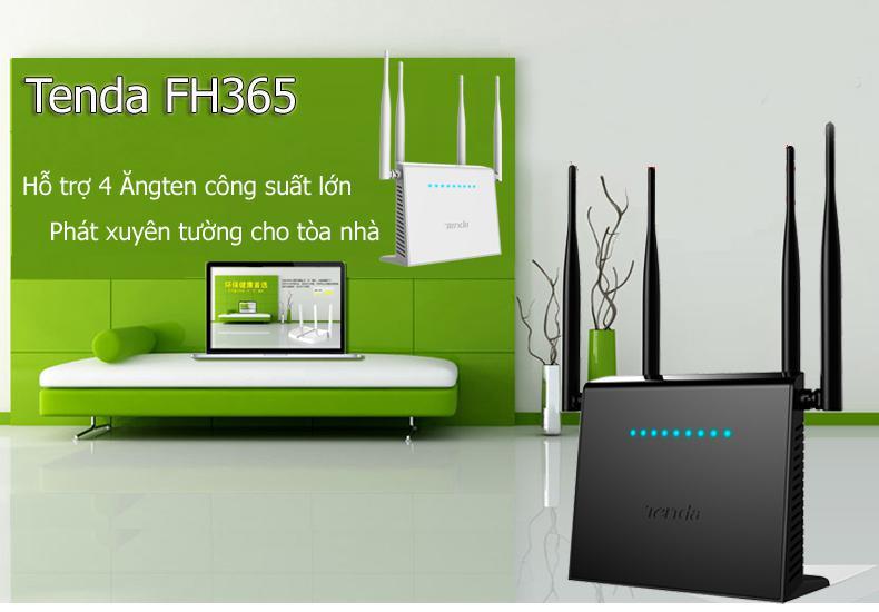 High Power Tenda FH365 300Mbps wifi router, repeater, xuyên tường cực mạnh