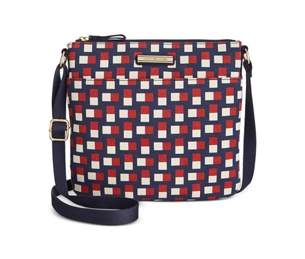 Tommy Hilfiger Daphne Canvas Crossbody (Navy/Red)