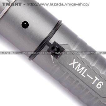 Đèn pin siêu sáng C'MON DEFEND XML-T6 LED 10W 2000lm chiếu xa 500m + Tặng 1 pin sạc li-ion 18650
