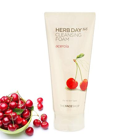 Sữa rửa mặt Herb Day 365 Cleansing Foam TheFaceShop - Cherry