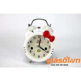 Đồng hồ báo thức để bàn Hello Kitty SS-17036 (Trắng Đỏ)