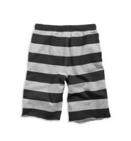 77 rugby stripe fleece short
