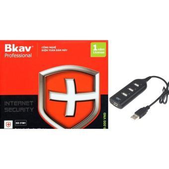 Phần mềm diệt virut Bkav Pro Internet Security tặng bộ chia USB 4 cổng