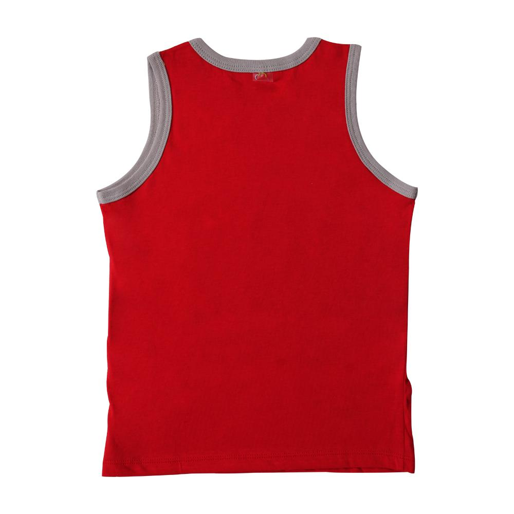 Áo ba lỗ Bibos màu đỏ ghi