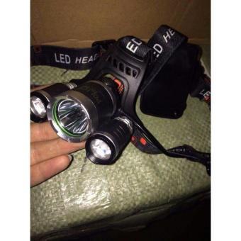 Đèn pin Led siêu sáng đội đầu 3 bóng ( Đen )