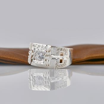 Nhẫn nam đính đá cao cấp Opal RM_03