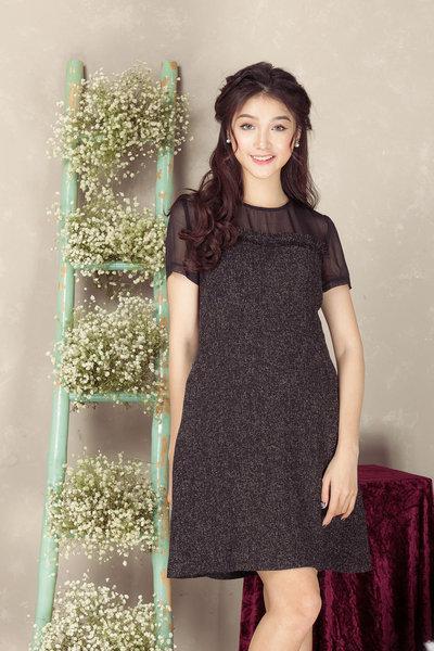 Váy voan ngực + chân đen