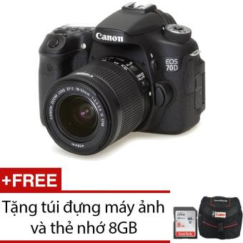 Canon EOS 70D 20.2 MP với Lens Kit EF-S 18-55mm F3.5-5.6 IS STM+ Tặng 1 túi đựng máy ảnh + 1 thẻ nhớ...