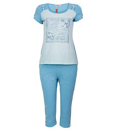 Bộ đồ mặc nhà NITIMO gợn sóng 3069BLCT - Xanh