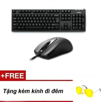 Bộ sản phẩm bàn phím Fuhlen L411 và chuột Fuhlen L102 + Tăng kính đi đêm