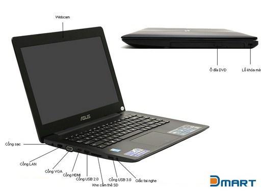Máy tính xách tay Asus X453MA-WX267D- ĐEN
