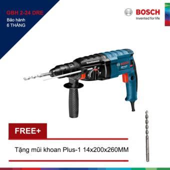 Máy khoan Bosch GBH 2-24 DRE + Tặng 1 Mũi khoan bê tông Plus-1 14x100/160MM