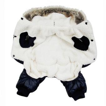 Dog Winter Warm Coat Snowman Jacket pet puppy Jumpsuit hoody clothes (Intl)