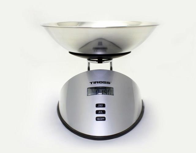Cân nhà bếp điện tử 5kg Tiross trợ thủ đắc lực cho bạn trong công việc bếp núc