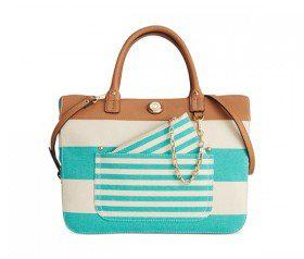 Tommy Hilfiger Lexi Woven Rugby Convertible Shopper (Posy/Natural)