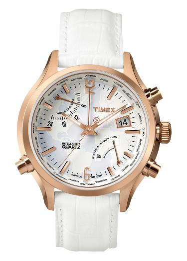 Đồng Hồ Unisex Dây Da Timex Intelligent Quartz TW2P87800
