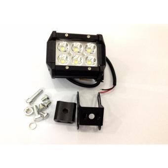 Đèn pha led C6 trợ sáng gắn xe máy + 2 bao tay lái xe máy Rizoma cao cấp có đèn led 2 màu (xanh dươn...