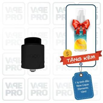Buồng đốt Vgod Pro Drip RDA (Black) tặng 1 lọ tinh dầu New Liqua 10ml vị Thuốc lá nhẹ