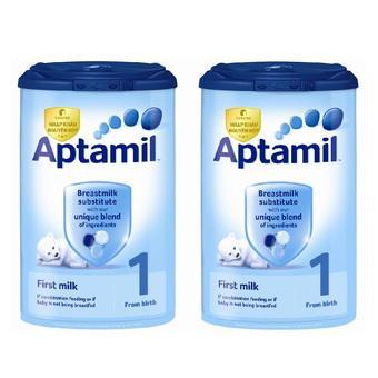 Bộ 2 sữa Aptamil Anh số 1 900g