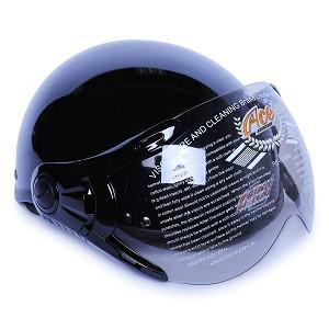 Mũ Bảo Hiểm Nửa Đầu Có Kính ACE A31K (Bóng) - Đen