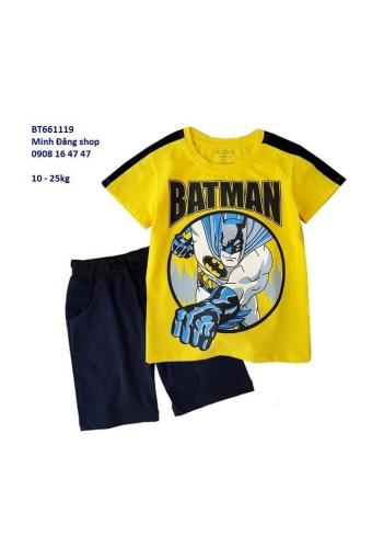 Bộ Thun Hình Batman PhốI Tay