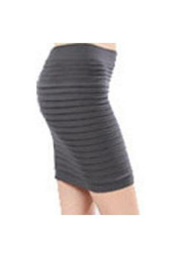 Moonar Office Lady High Waist Elastic Pleated OL Mini Short Skirts (Dark Grey) - intl