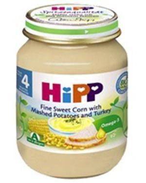 Dinh dưỡng đóng lọ HiPP Ngô bao tử, khoai tây, gà tây (125g)