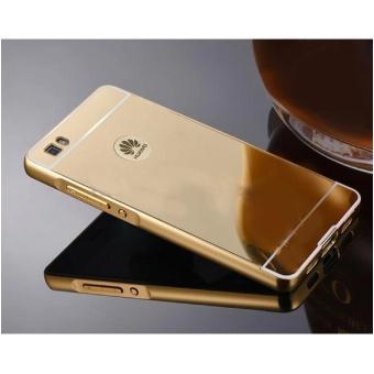 Ốp lưng cho Huawei P8 viền nhôm tráng gương (vàng)