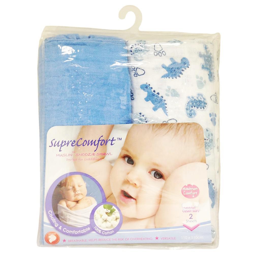 Bộ 2 Khăn Choàng Ngủ Màu Xanh Lucky Baby 151617B