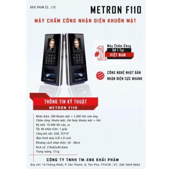 Máy Chấm Công Khuôn Mặt Metron F110 ( Đen)
