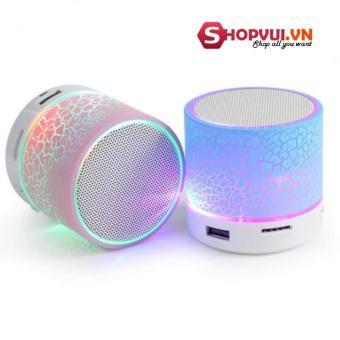 Loa Bluetooth HLD-600 có đèn led nháy theo nhạc (trắng)