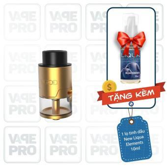 Buồng đốt Vgod Pro RDTA R2 (Gold) tặng 1 lọ tinh dầu New Liqua 10ml vị Thuốc lá nhẹ