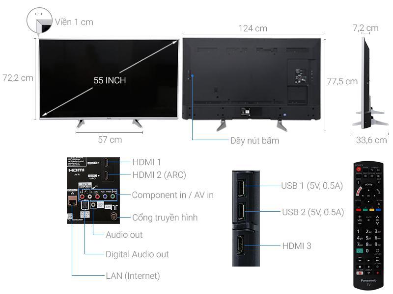 Smart Tivi Panasonic 55inch Full HD 2017