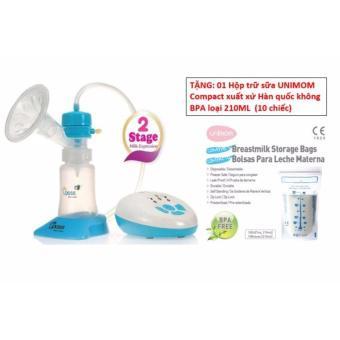 MÁY HÚT SỮA 2 CHU KỲ VÀ MÁT XA SILICON UPASS UP1642 (Tặng 01 hộp trữ sữa Unimom Compact (10 chiếc) k...