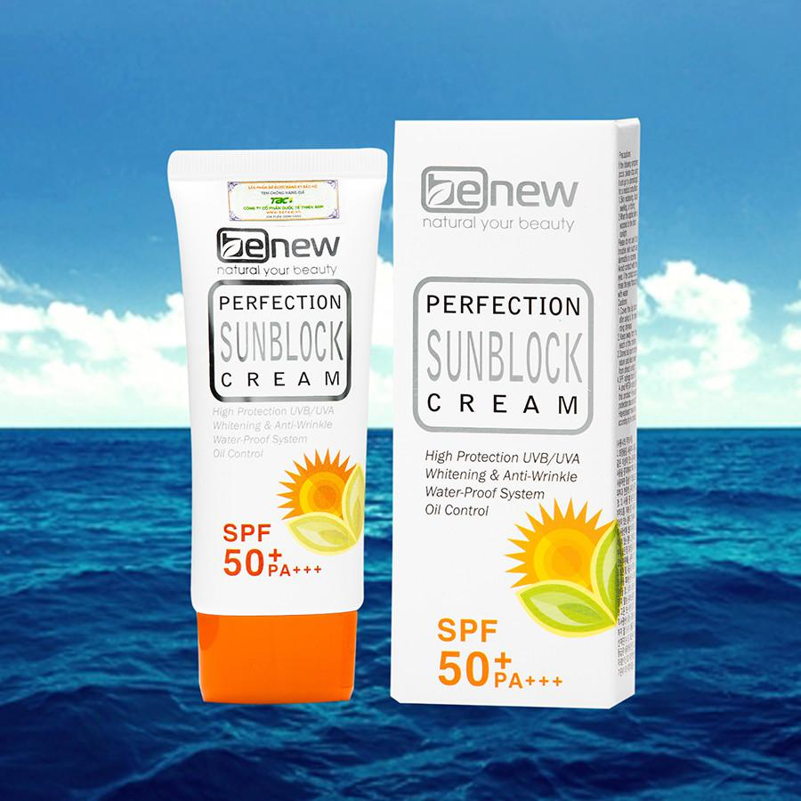 Kem chống nắng làm trắng da Benew Perfection Sunblock Cream