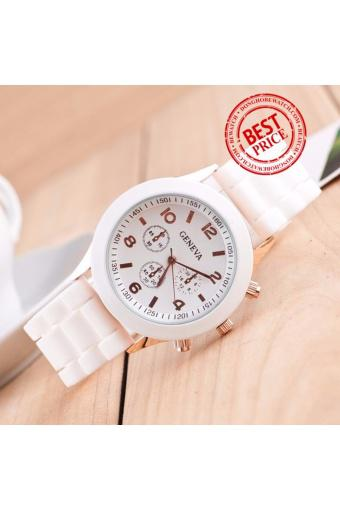 Đồng hồ dây cao su Bewatch B054 (Trắng)