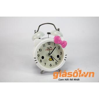 Đồng hồ báo thức để bàn Hello Kitty SS-17036 ( Trắng Hồng )