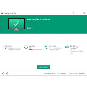 Phần mềm diệt virus máy tính Kaspersky Anti-Virus 3PC box (bản quyền 1 năm)