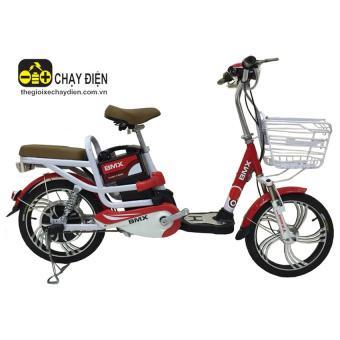 Xe đạp điện Bmx Classic nhún sau 18 inch (Đỏ trắng)