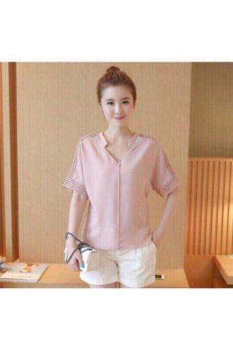 Áo Cát Tiểu Thư Tay Ren Hana Fashion ( Hồng)
