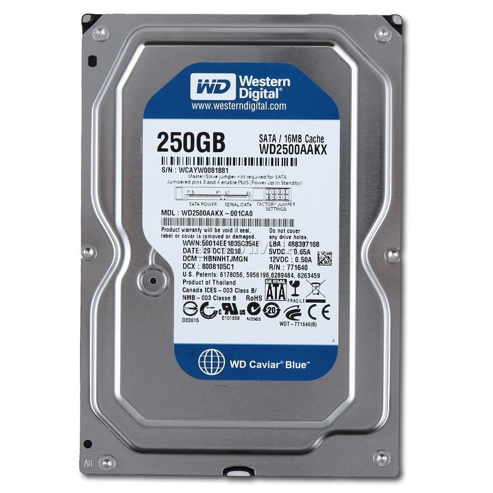 PC HDD WD 250GB Sata (Cty)